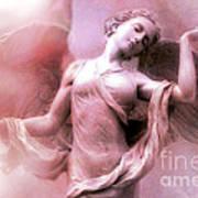 Angel Art Dreaming - Fantasy Ethereal Spiritual Angel Art Wings  Art Print