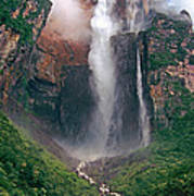 Angel Falls In Venezuela Art Print