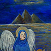 Angel From Eygpt Called Lapis Lazueli Art Print