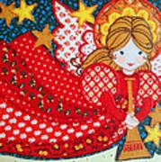 Angel In Red Art Print