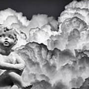 Angel In The Clouds Art Print