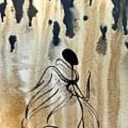 Angel In The Rain Art Print