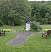 Angel Of Hope At The Putnam County Veteran Memorial Park Art Print