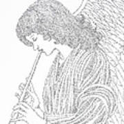 Angel Of Music Art Print by Lorraine Foster