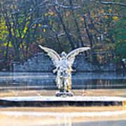 Angel On A Misty Lake  Art Print
