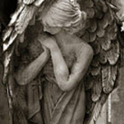 Angel Photography Spiritual Angel  - Guardian Angel In Prayer - Angel Praying  Art Print