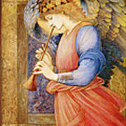 Angel Playing A Flageolet Art Print