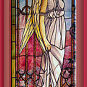 Angel Stained Glass Window Art Print by Thomas Woolworth