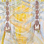 Angel Winds Flames Of Fire Art Print