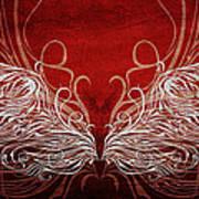 Angel Wings Crimson Art Print