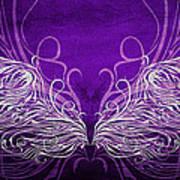 Angel Wings Royal Art Print