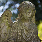 Angel With Broken Arm II Cave Hill Cemetery Louisville Kentucky  Art Print