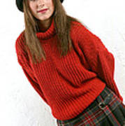 Angela Plaid Skirt Art Print
