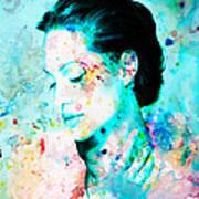 Angelina Jolie Heart And Soul Art Print