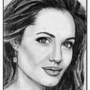 Angelina Jolie In 2005 Art Print by J McCombie
