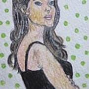 Angelina Jolie Art Print