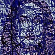 Angelina Jolie Splatter 1c Art Print