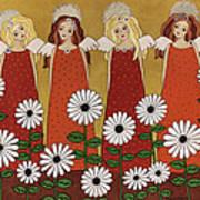 Angels And Dasies Art Print