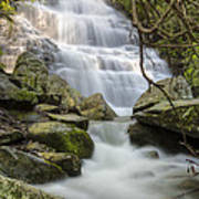 Angels At Benton Waterfall Art Print by Debra and Dave Vanderlaan