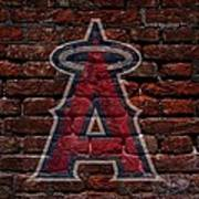 Angels Baseball Graffiti On Brick  Art Print by Movie Poster Prints