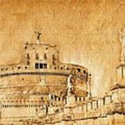Angels Bridge And Castle Art Print