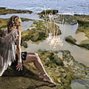 Angels- His Spirit Will Comfort You Art Print