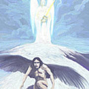 Angels Of Light And Darkness Art Print