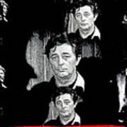 Angie Dickinson Robert Mitchum Collage Young Billy Young Set Old Tucson Arizona 1968-2013 Art Print