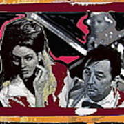 Angie Dickinson Robert Mitchum Pose Collage Young Billy Young Old Tucson Arizona 1968-2013 Art Print