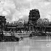 Angkor Black White Art Print