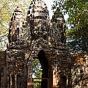 Angkor Thom North Gate 01 Art Print