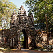 Angkor Thom North Gate 02 Art Print