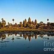 Angkor Wat At Sunset - Cambodia Art Print