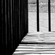 Angles And Shadows - Black And White Art Print
