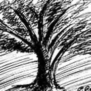 Angry Tree Art Print