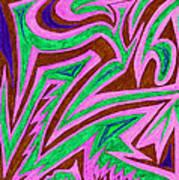 Anguished Love V 4 Art Print