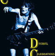 Angus Creates Decibel Celebrations In Blue Art Print