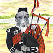 Angus The Piper Art Print