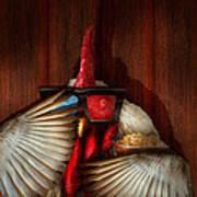 Animal - Chicken - Movie Night  Art Print