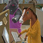 Animal Office Art Print