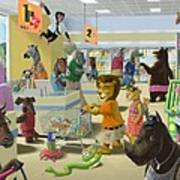 Animal Supermarket Art Print