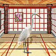 Animal - The Egret Art Print by Mike Savad