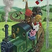 Animal Train Journey Art Print by Martin Davey