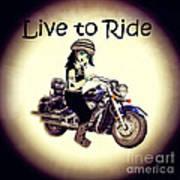 Anime Biker-live To Ride Art Print