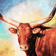 Ankole Bull Art Print