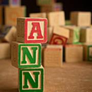 Ann - Alphabet Blocks Art Print