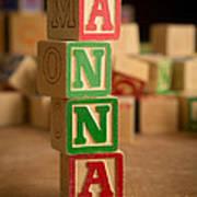 Anna - Alphabet Blocks Art Print