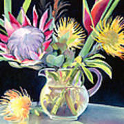 Anna's Protea Flowers Transparent Art Print