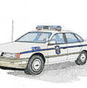 Anne Arundel County Police Art Print by Calvert Koerber