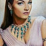 Anne Baxter In Ten Commandments  @ Ariesartist.com Art Print